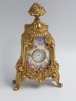Bécsi miniatűr zománc asztali óra