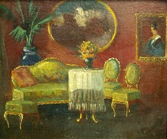 BURCHARD BÉLAVÁRY ISTVÁN /1864 - 1933/: Enteriőr