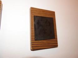 Stekly Zsuzsa : Egy császár portréja - tűzzománc kép - portré sorozatából