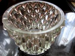 Rücskös üveg mécses tartó 2 db