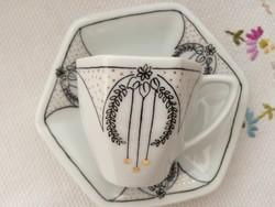 Gerold porcelán apró mokkás csésze és alja