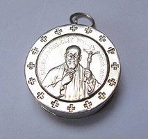 Saint François-Régis Clet ezüst ereklyetartó medál ~1820.