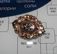 Biedermeier arany - ezüst bross / kitűző
