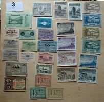 Osztrák notgeld szükségpénz 30 fajta UNC 1920-as évek 3. tétel