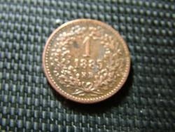 1 krajcár 1885