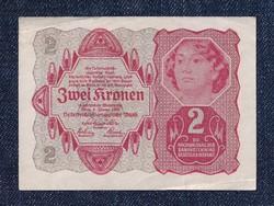 Osztrák 2 korona 1922 hajtatlan (id6556) forgalmi
