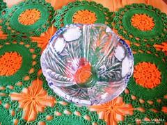 15 x 10 cm kristály tálka
