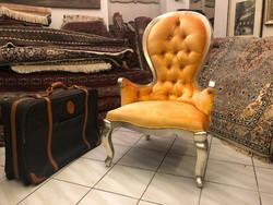 Hercegnőknek Ezüstözött Design Fotel