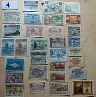 Osztrák notgeld szükségpénz 30 fajta UNC 1920-as évek 4. tétel