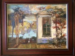 Tarasz Tabaka: Szülőházam c. festménye