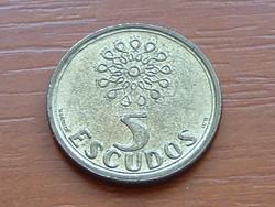 PORTUGÁLIA 5 ESCUDOS 1996 CSIPKE #