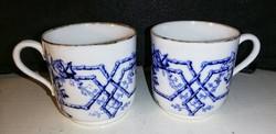 Angol Viktorianus kek-feher porcelan kaves bogre par. Copeland