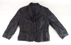 0V807 Fekete gyöngyös női alkalmi kabát blézer 42