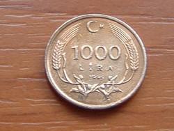 TÖRÖKORSZÁG 1000 LÍRA 1995 #