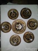 Horezu-i halas kerámia falitányér, tányérok