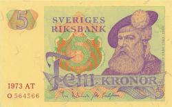 Svédország 5 Korona 1973 UNC