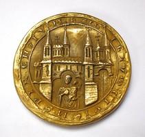Spayer városának 1293-as pecsétje, aranyozott,rézzel bevont ólom plakett.