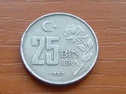 TÖRÖKORSZÁG 25 BIN (25.000) LÍRA 1997 RÓZSA #