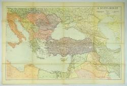 0V452 Közel-kelet térkép 1943 II. Bécsi döntés