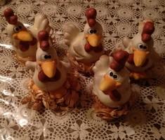 Retró kerámia kakas húsvéti dekoráció