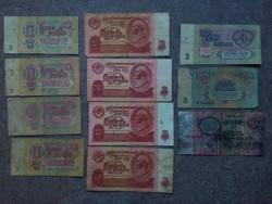 11 db szovjet rubel (id6538) forgalmi