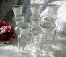 Régi patika üvegek 8db