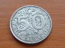 TÖRÖKORSZÁG 50 BIN (50.000) LÍRA 1999 #