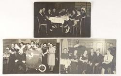 0V470 Régi Stefánia-est fotográfiák 3 darab 1938