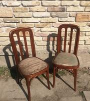 Különleges Art deco stílusú thonet szék párban