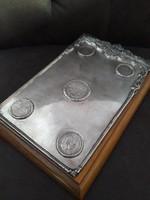 Antik ezüst érmékkel díszített Monarchiás
