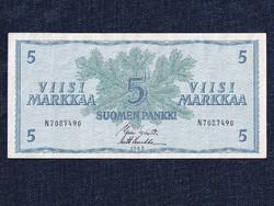 Finnország 5 Márka 1963 (id1924) forgalmi