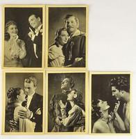 0V523 Régi fekete-fehér magyar filmes képeslap 5db