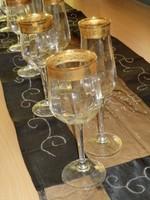 Ajándék esküvő,ballagásra Gazdagon aranyozott pohárkészletek
