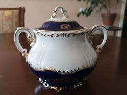 Zsolnay Pompadour/pompadúr 1-es, aranyozott cukortartó teás készlethez, hibátlan