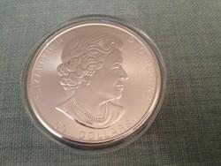 Kanada 50 Dollár Maple Leaf, 10 Uncia Ezüst Érme, 2019, BUNC, Ag 999