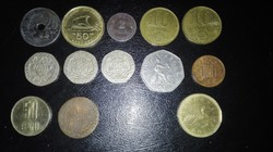 13 darab pénzérme, mindenféle, hagyatékból
