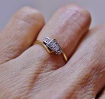 Antik gyémántköves arany gyűrű certifikáttal