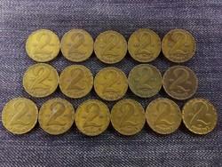2 Forint gyűjtemény, mind más év!/id 6685/