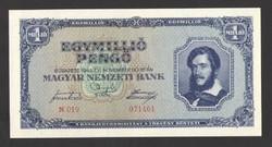Egymillió pengő 1945.  UNC!!