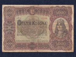 Ötezer korona 1920 (id5391) forgalmi