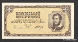 Egymillió milpengő 1945.  UNC !!!