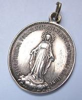 Szeplőtelenül Fogantatott Szent Szűz Könyörögj Érettünk, vallási medál.