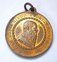 Német Birodalom,Friedrich Ludwig Jahn 1852 érem