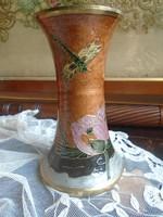 Festett,  réz,  szecessziós  váza.