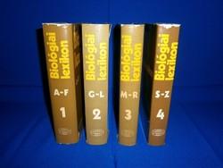 Biológiai lexikon 4 kötetes teljes lexikon sorozat 1975-78