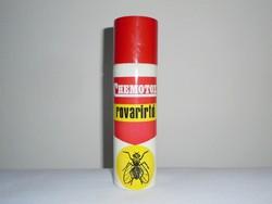Retro CHEMOTOX rovarirtó spray flakon - KHV Kozmetikai és Háztartásvegyipari Vállalat - 1970-es évek