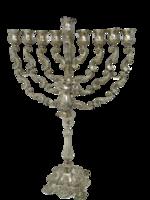 Gyönyörű Hanuka ezüst hatalmas gyertyatartó