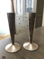 Régi ezüstözött váza párban