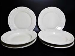 Bavaria ezüst peremes csontszínű  tányér , tányérok pótlásnak
