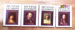 Művészeti lexikon sorozat, négy kötetes mű